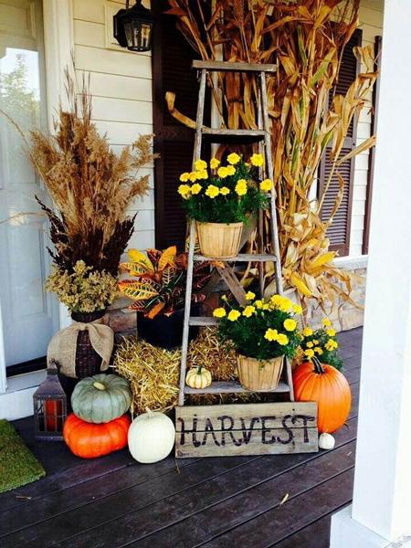 Dekorácia v jesenných farbách