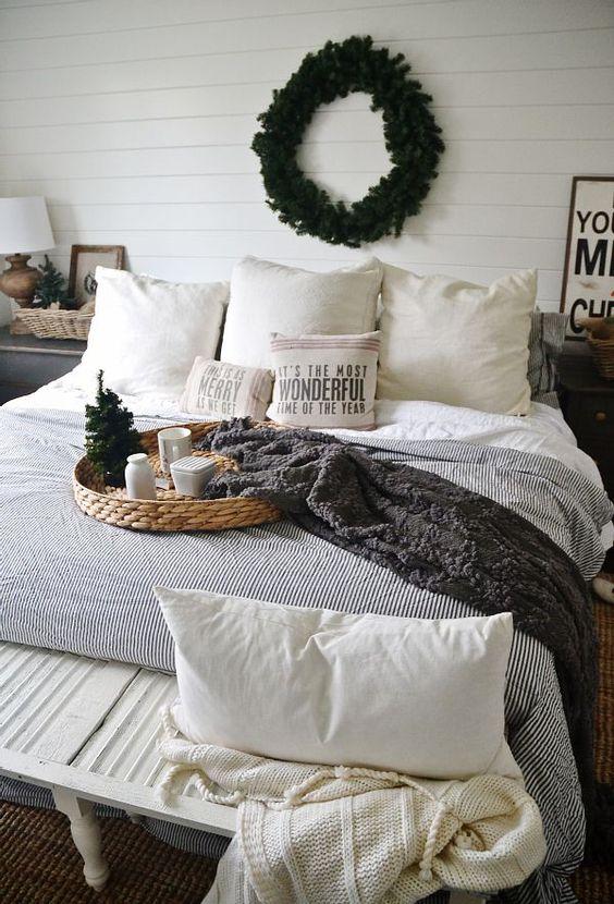 Vianočná dekorácia pre vašu spálňu