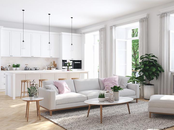 Ako zariadiť obývačku s kuchyňou