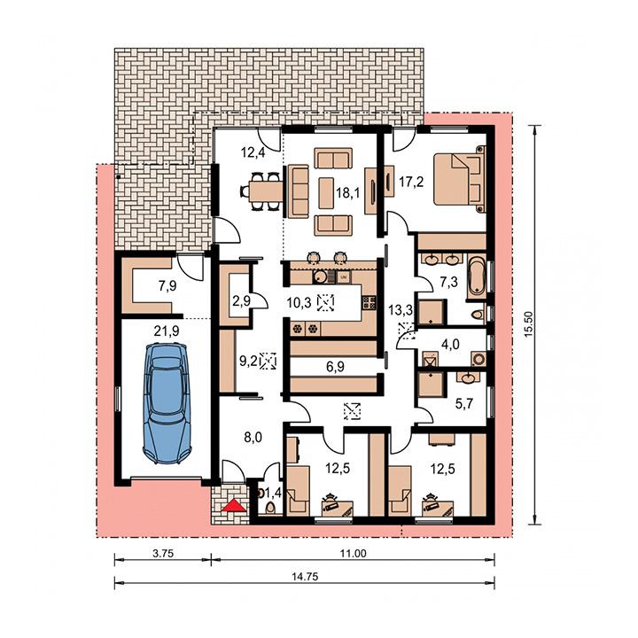 Rodinný dom Bungalow 30