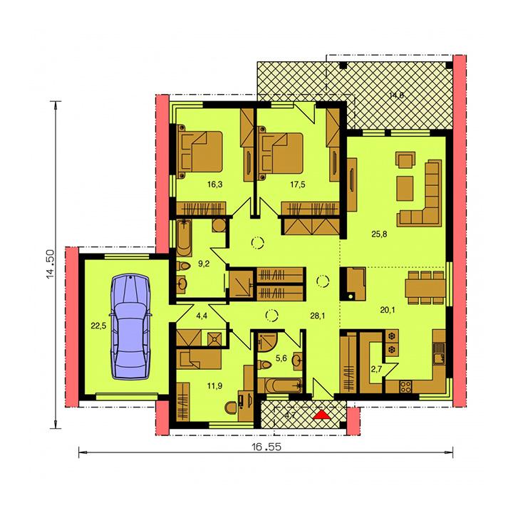 Rodinný dom Bungalow 176