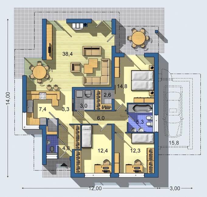 Rodinný dom Bungalov 968