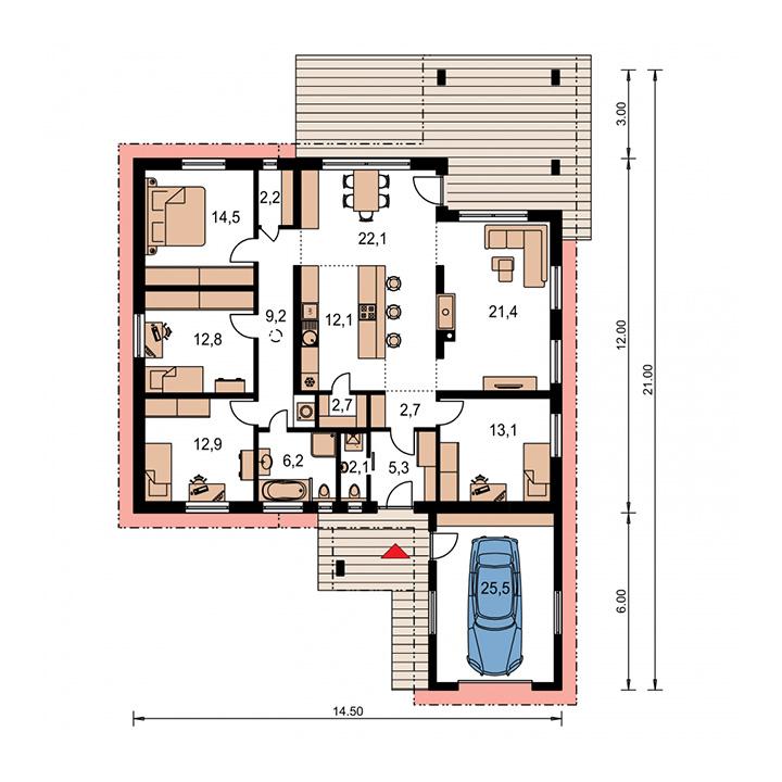 Rodinný dom Bungalow 48