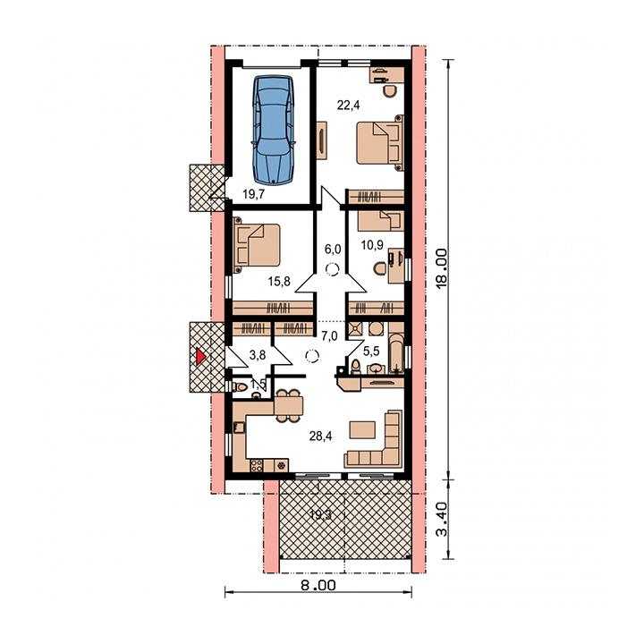Rodinný dom Bungalow 28 Plus