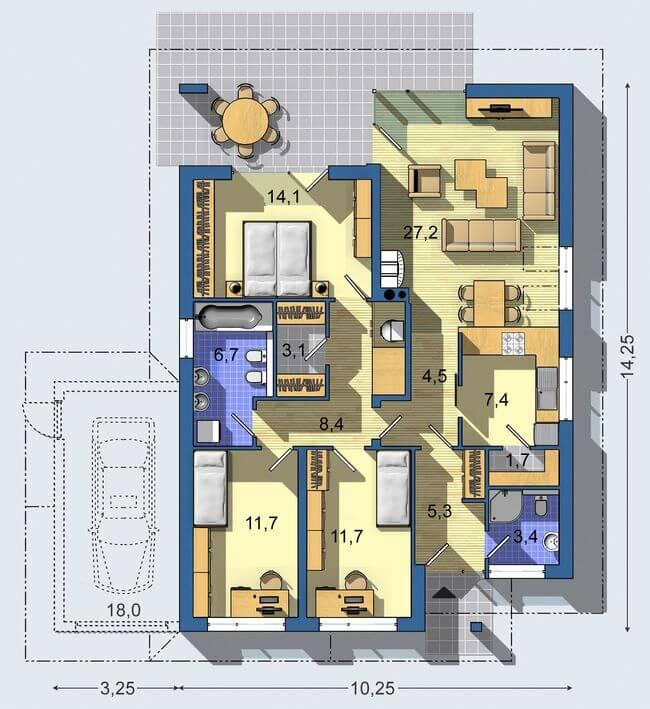 Rodinný dom Bungalov 967