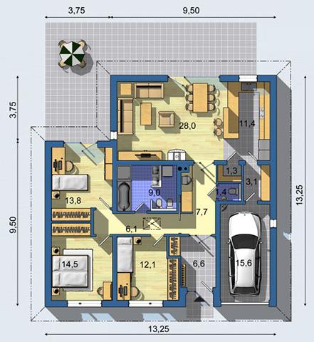 Rodinný dom Bungalov 1086