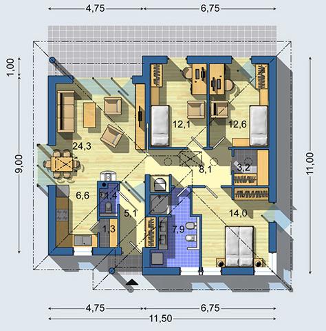Rodinný dom Bungalov 1173