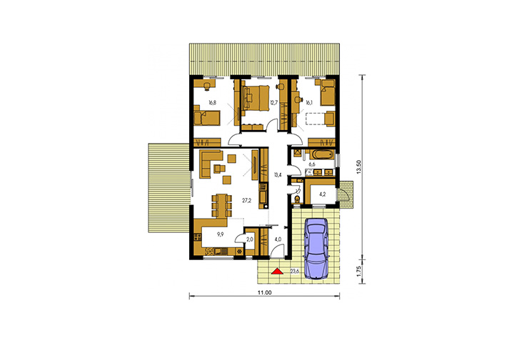 Rodinný dom Bungalow 204
