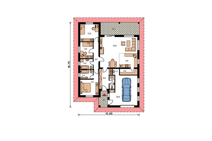 Rodinný dom Bungalow 114