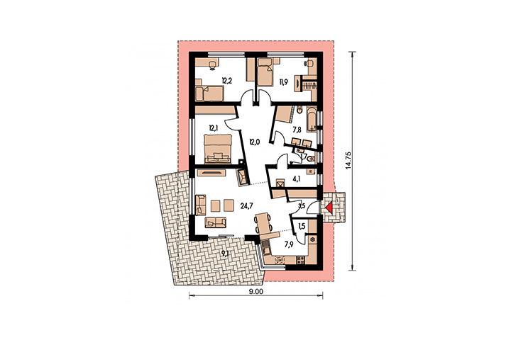 Rodinný dom Bungalow 147
