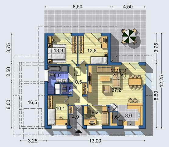 Rodinný dom Bungalov 1175