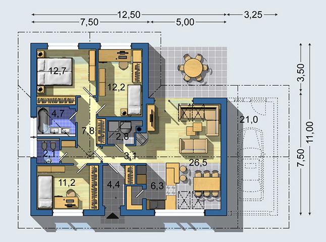 Rodinný dom Bungalov 1176
