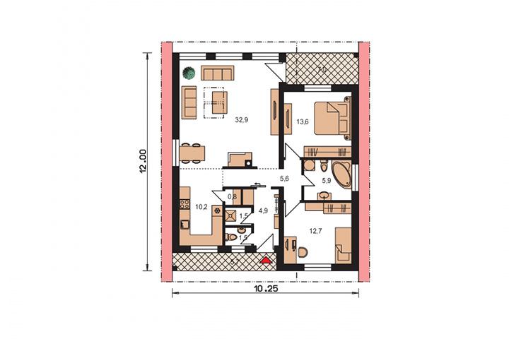Rodinný dom Bungalow 135
