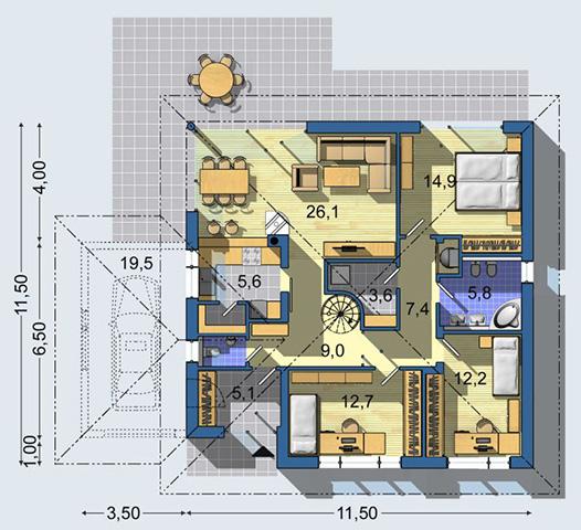 Rodinný dom Bungalov 1180