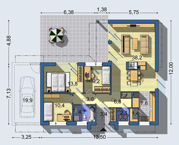Rodinný dom Bungalov 1182