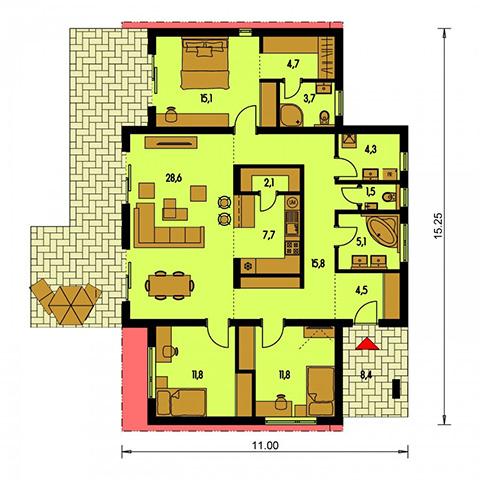 Rodinný dom Bungalow 172