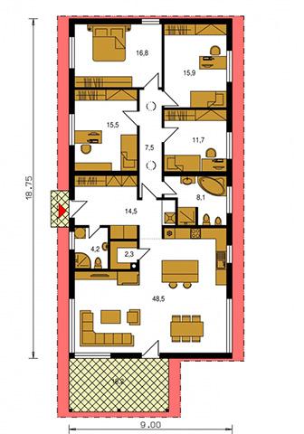 Rodinný dom Bungalow 175
