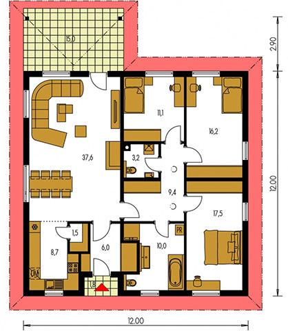 Rodinný dom Bungalow 185