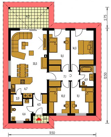Rodinný dom Bungalow 187