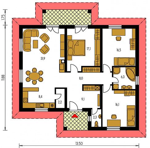 Rodinný dom Bungalow 2