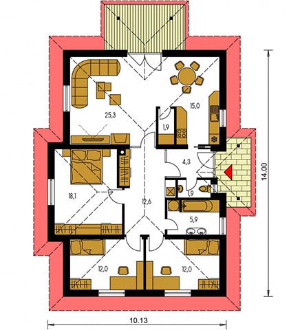 Rodinný dom Bungalow 6