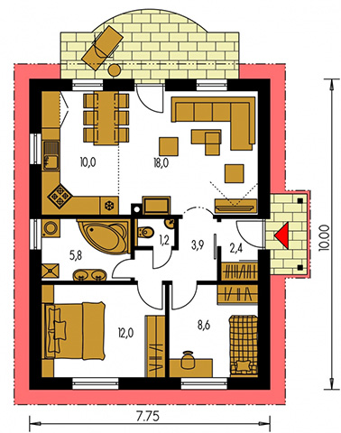 Rodinný dom Bungalow 11