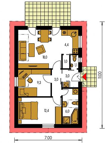 Rodinný dom Bungalow 14
