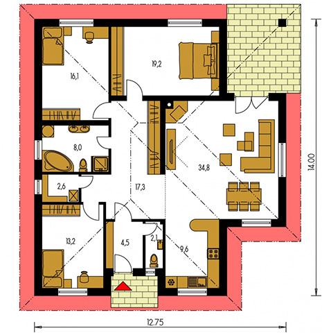 Rodinný dom Bungalow 16