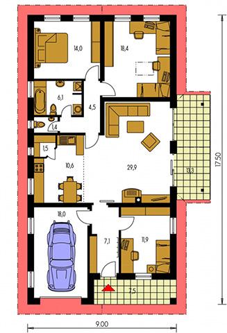 Rodinný dom Bungalow 20