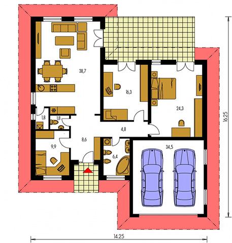 Rodinný dom Bungalow 22