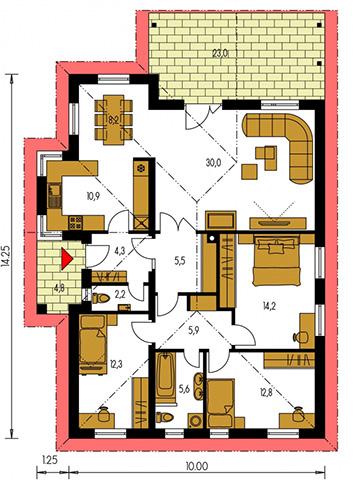 Rodinný dom Bungalow 23