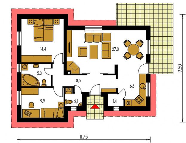 Rodinný dom Bungalow 26