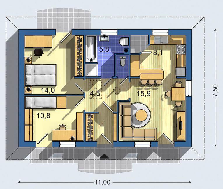 Rodinný dom Bungalov 065