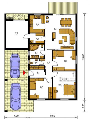 Rodinný dom Bungalow 209
