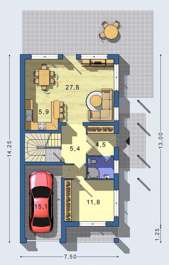 Rodinný dom Junior 055