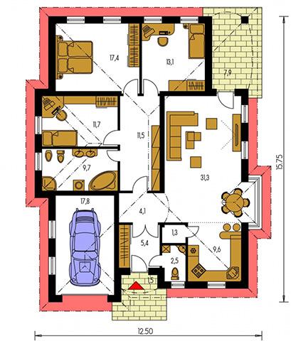 Rodinný dom Bungalow 52