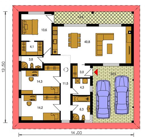 Rodinný dom Bungalow 214