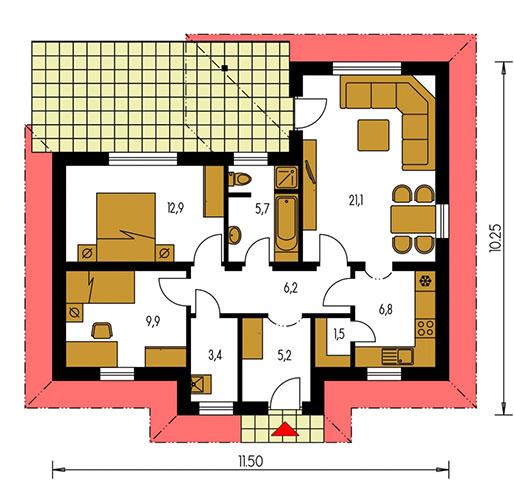 Rodinný dom Bungalow 70