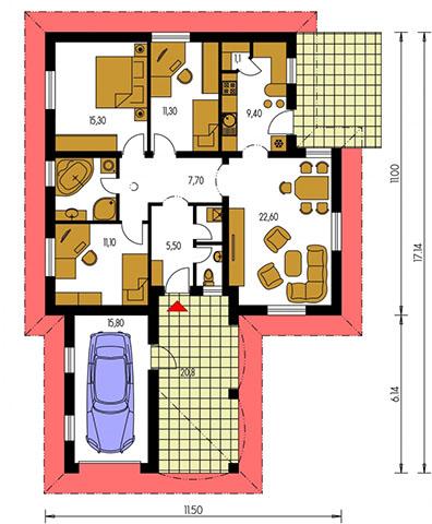 Rodinný dom Bungalow 73