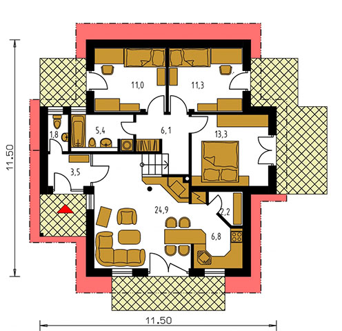 Rodinný dom Bungalow 75