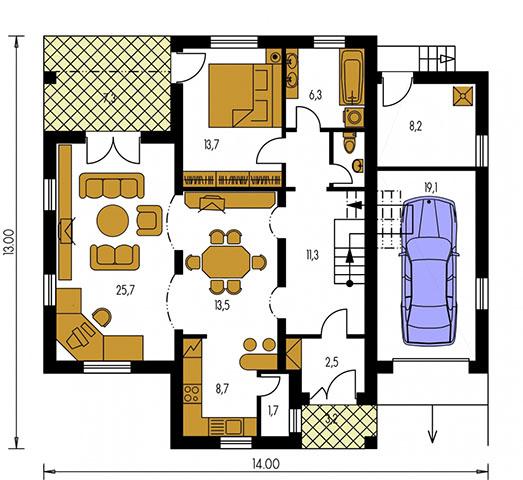 Rodinný dom Bungalow 81