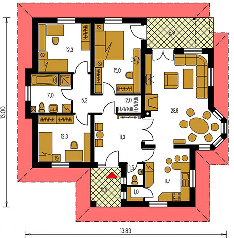 Rodinný dom Bungalow 84