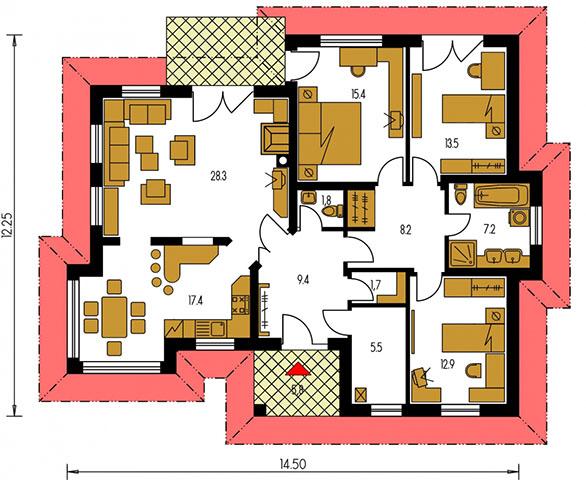 Rodinný dom Bungalow 87