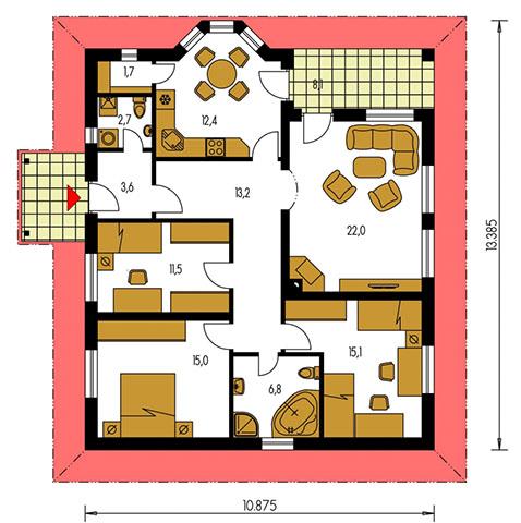 Rodinný dom Bungalow 91