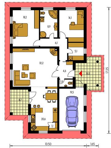 Rodinný dom Bungalow 104