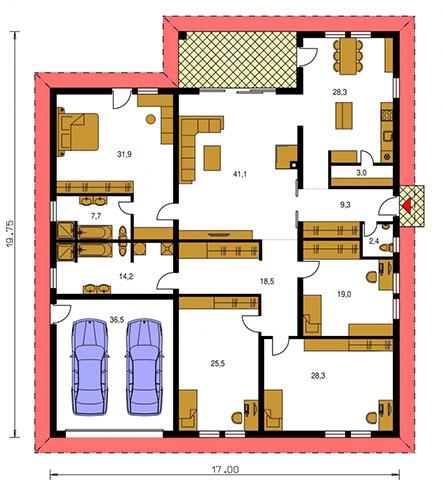 Rodinný dom Bungalow 118