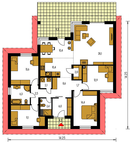 Rodinný dom Bungalow 124