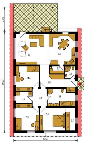 Rodinný dom Bungalow 133