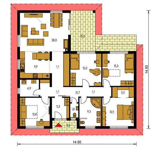 Rodinný dom Bungalow 216