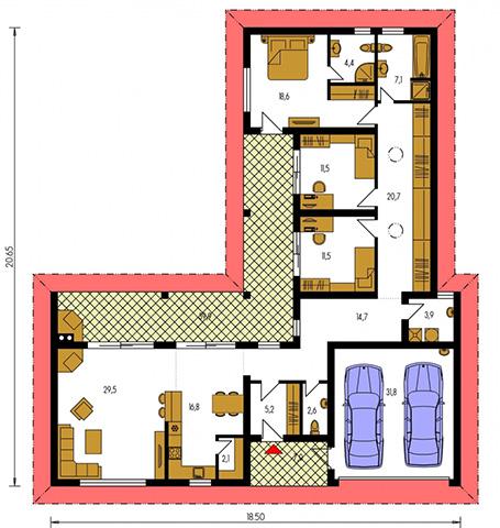 Rodinný dom Bungalow 143
